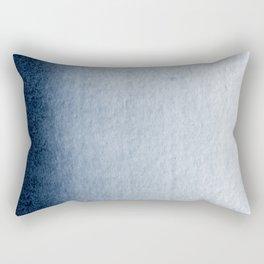 Indigo Vertical Blur Abstract Rectangular Pillow