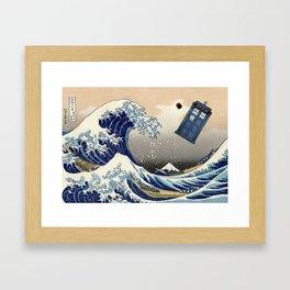 TARDIS at Kanagawa Framed Art Print