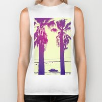 palms Biker Tanks featuring Palms by Giuseppe Cristiano