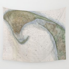 Vintage Map of Provincetown Wall Tapestry