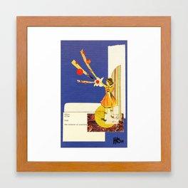 Composition on Blue Framed Art Print