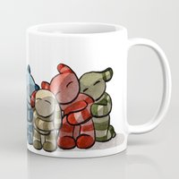 cuddle Mugs featuring Cuddle by Friederike Ablang