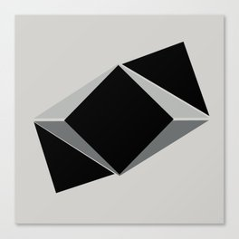 Shapes, black and grays Canvas Print