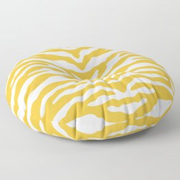 Zebra Wild Animal Print Mustard Yellow Floor Pillow