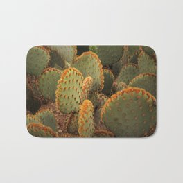 Orange cactus Bath Mat