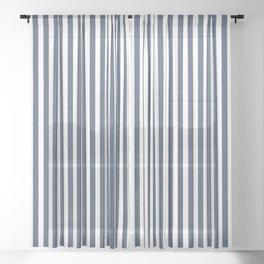501 ORIGINAL DENIM CHAMBRAY STRIPES Sheer Curtain