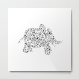 Elephant From Bicycles Animal Bicycle Metal Print