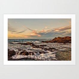 Bass point sunset  Art Print