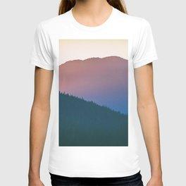 Alaska mountain peak sunset landscape T-shirt