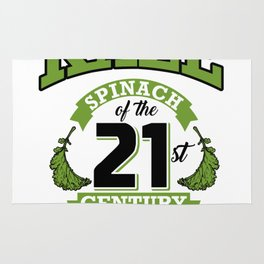 Kale Spinach of the 21st Century Kale Art for Vegans Light Rug