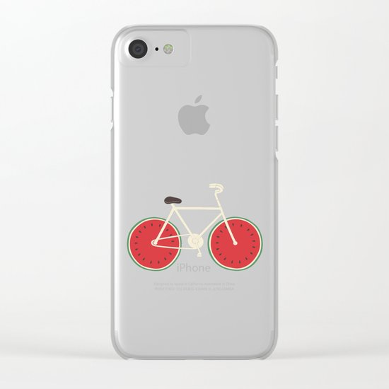watermelon bike Clear iPhone Case