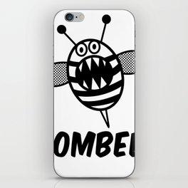 Funny Zombee, Zombie Tee-shirt, Bee T-Shirt iPhone Skin
