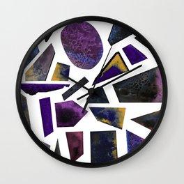 Crystal lilac Wall Clock