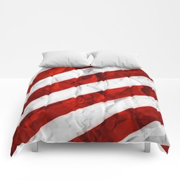 Crumbled Red Stripes Comforters