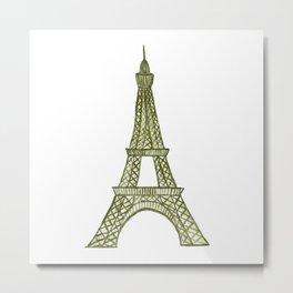 Eiffel tower GOLD / La tour Eiffel - PAINTED Metal Print