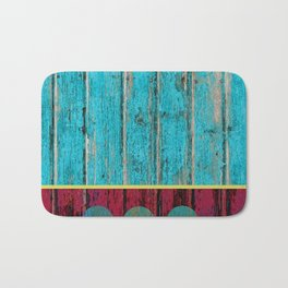 shabby chic wood art Bath Mat