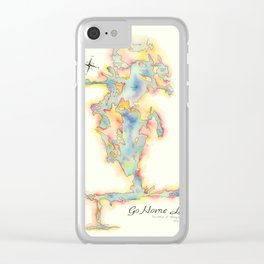 Go Home Lake - Coloured Map Clear iPhone Case