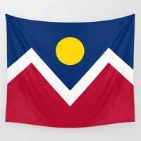 denver Wall Tapestries featuring Denver (Colorado) city flag - Authentic version by LonestarDesigns2020 is Modern Home Decor