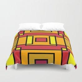 Interlocking Atumn colours Squares Duvet Cover