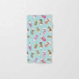 Coffee Crazy Toss in Blueberry Hand & Bath Towel