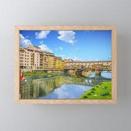 Red and White Flag by Ponte Vecchio Framed Mini Art Print