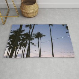 A purple and pink tropical sunset | Travel photography Las Terrenas, the Dominican Republic Rug