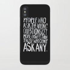 ANSWERS iPhone X Slim Case