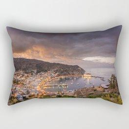 Harbor at Avalon on Catalina Island at Sunset Rectangular Pillow