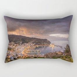 Harbor at Avalon on Catalina Island at Sunset Rectangular Pillow
