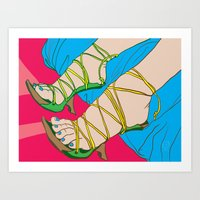 feet Art Prints featuring Feet by Mauro Squiz Daviddi