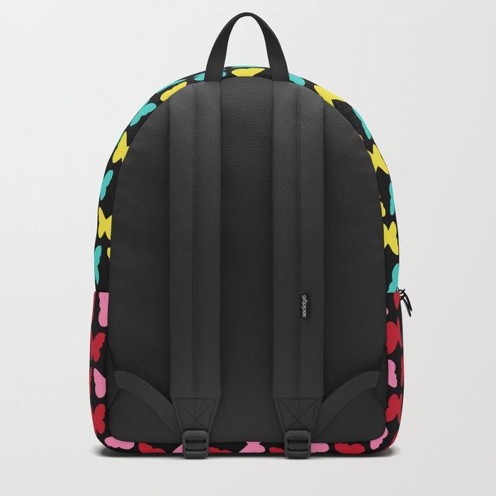 Happy Butterflies on Black Backpack