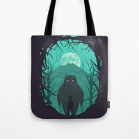 scary Tote Bags featuring Scary Monsters and Nice Sprites by filiskun