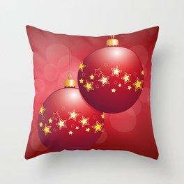 Christmas bulbs Throw Pillow