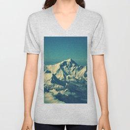 Mount Everest and surrounding mountain range Unisex V-Neck