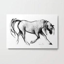 Horse (Lady) Metal Print