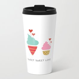 Ice Cream lovers Metal Travel Mug
