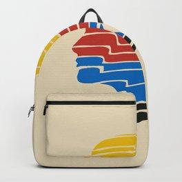 Vintage portrait ponytail Backpack