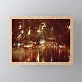 Just Another Rainy Freeway Framed Mini Art Print