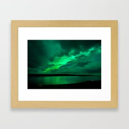 Aurora Explosion in Iceland Framed Art Print