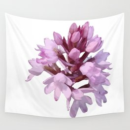 Pink Orchid Wildflower Wall Tapestry