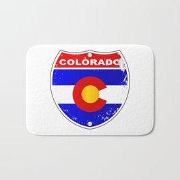 Colorado Interstate Sign Bath Mat