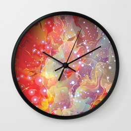 Abstract Flame Wall Clock
