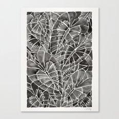 Schismatoglottis Calyptrata – Black Palette Canvas Print