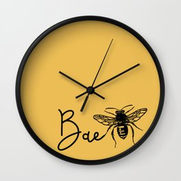 BAE Bee Baby Pun Love Wall Clock