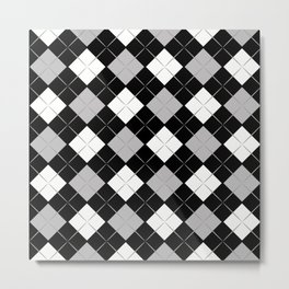Checkered background Metal Print