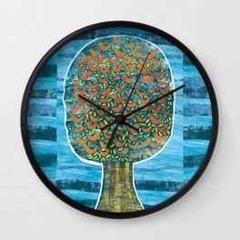 Tree and Birds Wall Clock