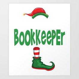 elf bookkeeper Art Print