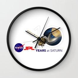 Cassini: 10 Years at Saturn Wall Clock