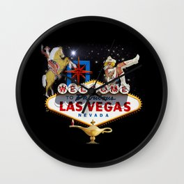 Las Vegas Welcome Sign Wall Clock