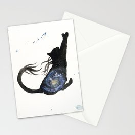 Spiral Galaxy Cat Stationery Cards